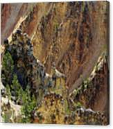 Grand Canyon Of The Yellowstone From North Rim Drive Canvas Print