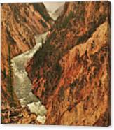 Grand Canyon Of The Yellowstone Vertical Panorama Canvas Print