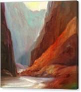 Grand Canyon Rafting Canvas Print