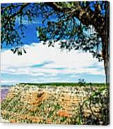Grand Canyon View From South Rim Overlook Canvas Print