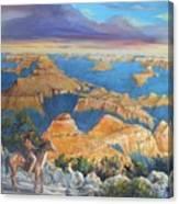 Grand Canyon Visitors At Sunrise Canvas Print