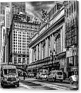 Grand Central At 42nd St - Mono Canvas Print