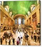 Grand Central Rush     Go2 Canvas Print