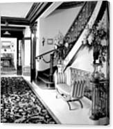 Grand Island Mansion Mosher Ranch 7 B And W Canvas Print