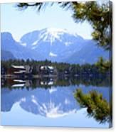 Grand Lake Co Mt Baldy From Shadow Mtn Lake Canvas Print