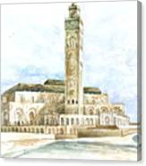 Grand Mosque Hassan II  Front Side Canvas Print