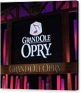 Grand Ole Opry House In Nashville, Tennessee. Canvas Print