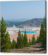 Grand Prismatic Spring Panorama Canvas Print