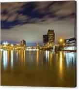 Grand Rapids At Night Canvas Print