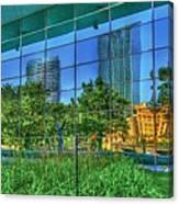 Grand Rapids Mi On Glass-18 Canvas Print