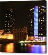 Grand Rapids Mi Under The Lights-4 Canvas Print