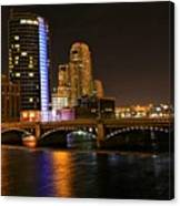 Grand Rapids Mi Under The Lights Canvas Print