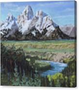 Grand Teton And Snake River Canvas Print
