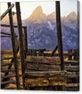 Grand Teton Framed Canvas Print