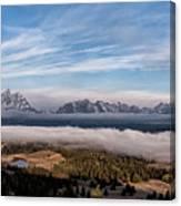 Grand Teton Mountain Range Canvas Print