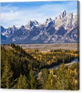 Grand Teton Mountains Canvas Print