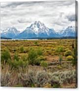 Grand Teton Mountains Panorama Canvas Print