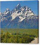 Grand Teton National Park And Snake River Canvas Print