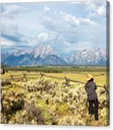Grand Teton Photograpers Canvas Print