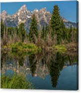 Grand Teton Range In Late Summer Canvas Print