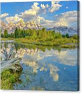 Grand Teton Riverside Morning Reflection Canvas Print