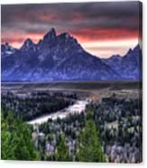 Grand Teton Sunset Canvas Print