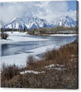 Grand Tetons From Oxbow Bend Canvas Print