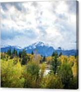 Grand Tetons In The Fall Canvas Print