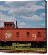 Grand Trunk Railroad Wood Caboose Canvas Print