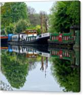 Grand Union Canal Cowley West London Canvas Print