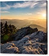 Grandfather Mountain Sunset Blue Ridge Parkway Western Nc Canvas Print