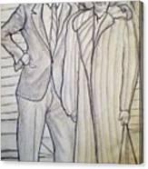 Grandma And Grandpa Albee Canvas Print