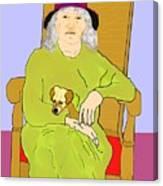 Grandma And Puppy Canvas Print