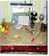 Grandma's Baking Table Canvas Print