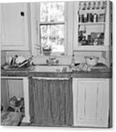 Grandma's Kitchen B W Canvas Print