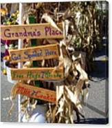 Grandma's Place Get Spoiled Here Canvas Print