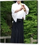 Grandmaster Playing Shakuhachi Canvas Print
