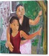 Grandmother And Grand-daughter In  Honduras Canvas Print