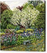 Grandmother's Garden Spring Blossoms Canvas Print