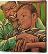 Grandpa And Me Canvas Print
