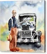 Grandpa's Chevy Canvas Print