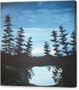 Grandpa's Piney Pond Canvas Print