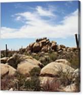 Granite Boulders And Saguaros  Canvas Print