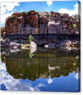 Granite Dells Reflection Canvas Print
