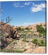 Granite Dells Rocky Terrain  Canvas Print