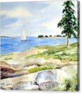 Granite Ledges II Canvas Print