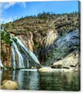 Granite Mountain Waterfall Panorama Canvas Print