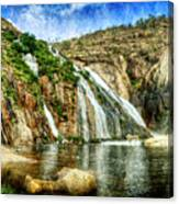 Granite Mountain Waterfall - Vintage Version Canvas Print