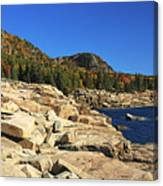 Granite Rocks At The Coast Canvas Print