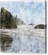 Granite Stacks Olympic Park Canvas Print